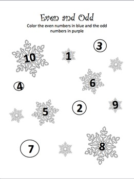 Winter Reading, Writing and Math Activity Kit
