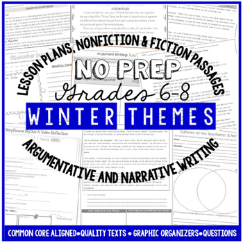 Winter Reading and Writing Activities For Big Kids – Common Core Aligned