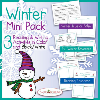 Winter Reading and Writing for Kindergarten and First Grade