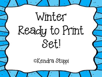 Winter - Ready to Print Set