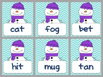 Winter Real or Nonsense Word Sort Activity