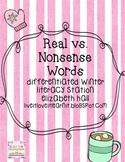 Winter Real vs. Nonsense Word Differentiated Literacy Stations