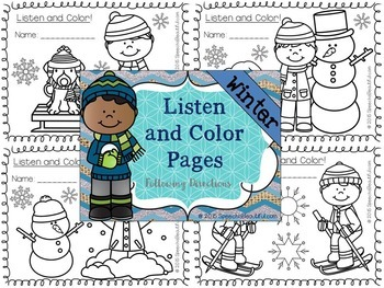 NO PREP Winter Receptive - Expressive Language Pack - Speech Therapy (PK-1)