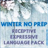 NO PREP Winter Receptive - Expressive Language Pack - Speech Therapy (PK-1)
