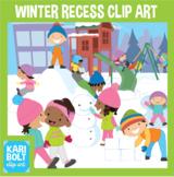 Winter Recess Clip Art with Bonus Winter Clothes