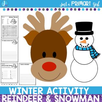 Winter Reindeer Craftivity - Both Christmas and Christmas