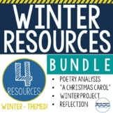 Winter Units Bundle - Interactive Notebook, Flip Books, Winter Break Project