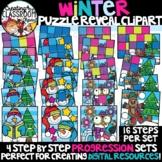 Winter Reveal Puzzles Clipart {Digital Puzzles Clipart}