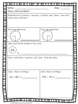 Winter Review Packet Freebie