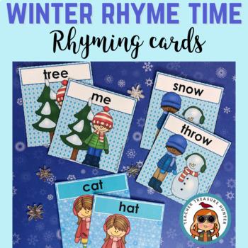 Winter Rhyme Time ~ K.RF.2  * 24 Rhyming cards * Games
