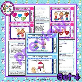 Valentines Day Songs, Rhymes and Fingerplays  - Set 4