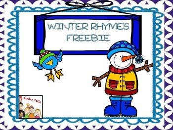 Winter Rhymes Freebie