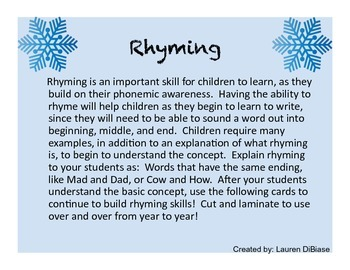 Winter Rhyming Cards!