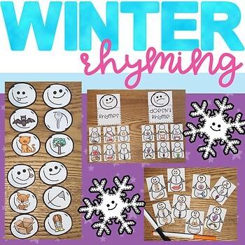 Winter Rhyming Center #thankful4u