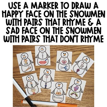 Winter Rhyming Center Activity