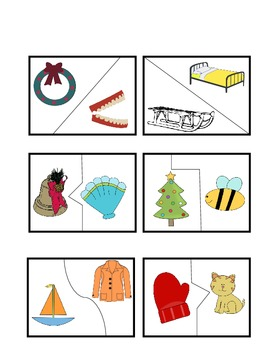 Winter Rhyming Puzzle