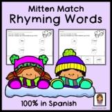 Spanish Winter Rhyming Practice