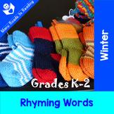 Winter Rhyming Words Grades K-2