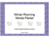 Winter Rhyming Words Packet