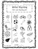 Winter Rhyming Worksheets