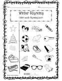 Winter Rhyming Worksheets