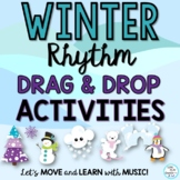 Winter Rhythm Activities: Google Apps Drag & Drop Slides,