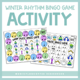 Winter Rhythm Bingo Game | Printable & Distance Learning Activity