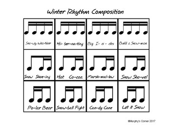 Winter Rhythm Composition