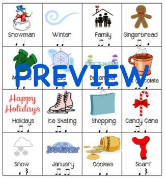 """""""Winter"""" Rhythm Flashcards Grades 1-3"""