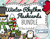 Winter Rhythm Flashcards - BUNDLE