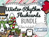Winter Rhythm Flashcards - BUNDLE