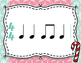 Winter Rhythm Flashcards - Quarter and Eight Notes