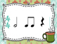 Winter Rhythm Flashcards - Half Notes and Half Rests