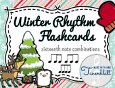 Winter Rhythm Flashcards - Sixteenth Combinations - FREEBIE