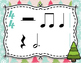 Winter Rhythm Flashcards - Whole Notes and Dotted Half