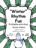 Music Worksheets: Music Math {Winter Rhythm Fun}