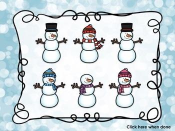 Winter Rhythm Game for Ti-Tika/ Ti-Tiri {Let's Build a Snowman}