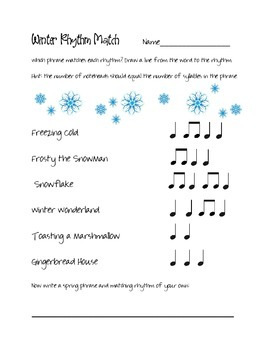 Winter Rhythm Match