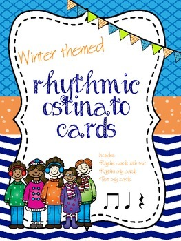 Winter Rhythmic Ostinato Cards