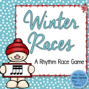 Winter Rhythm Races {Sixteenth Notes}