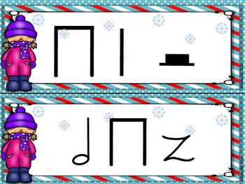 Winter Rhythm Strips Ta-ah / Half Rest