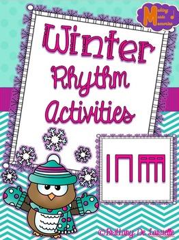 Winter Rhythm Worksheet Freebie - Ta, Ti-ti, Ti-ri-ti-ri