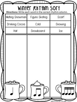 winter rhythm worksheet freebie ta ti ti ti ri ti ri tpt. Black Bedroom Furniture Sets. Home Design Ideas