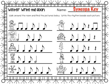 Winter Rhythm Write the Room {Syncopa}