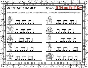 Winter Rhythm Write the Room {Ti Tiri Tiri Ti}