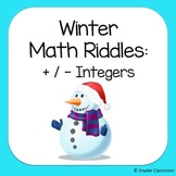 Winter Adding and Subtracting Integers Math Riddles