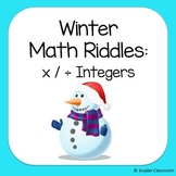 Winter Multiplying and Dividing Integers Math Riddles