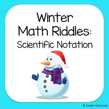Winter Scientific Notation Math Riddles