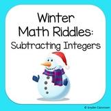 Winter Subtracting Integers Math Riddles