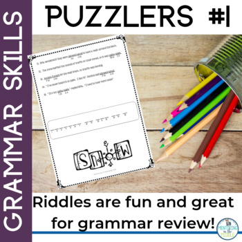 Winter Riddles for Grammar Skills Review